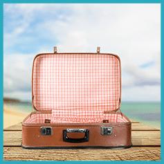 מזוודה למטוס לאומן